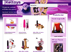 screenshot du site Keltoys