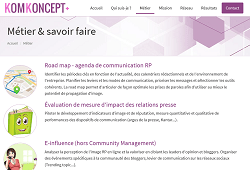 screenshot du site KomKoncept+