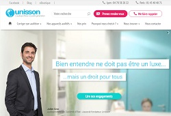 capture ecran de Laboratoires Unisson