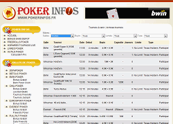 Poker infos : Planning tournois poker