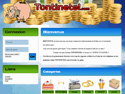 screenshot du site Tontinetel